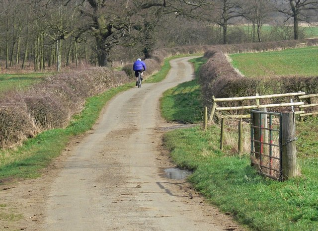 Cycling along Barkby Holt Lane