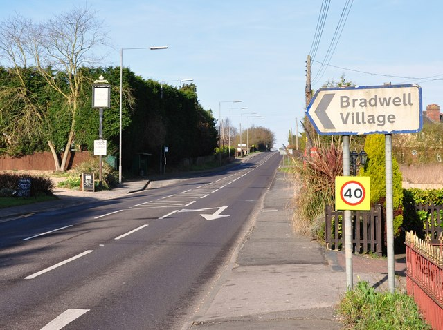 Village sign on the A120