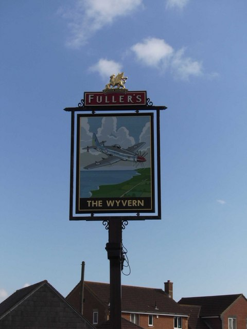 Pub sign of The Wyvern