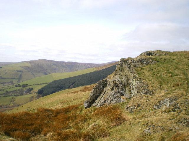 Rocks near the summit of Rhos