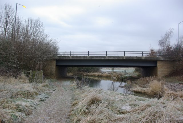 The A429 crossing the river Dene