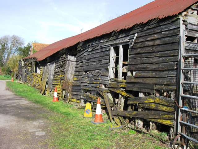 Derelict Old Barn, Upper Farm, Drayton Beauchamp