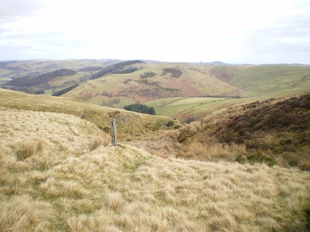 The upper reaches of the Nant Maengwyn