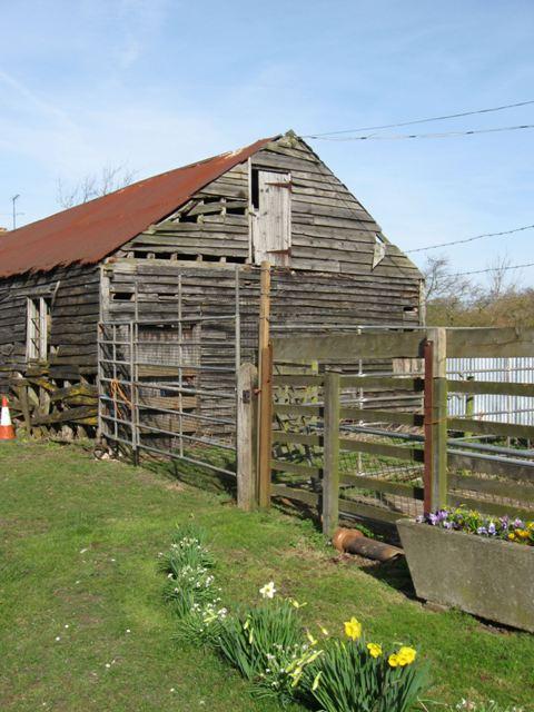 Gable End of Derelict Farm Barn