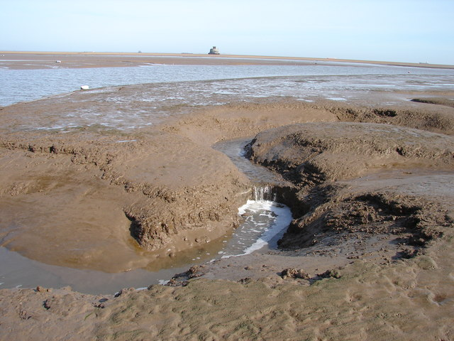 Outgoing tide at Humberston Fitties