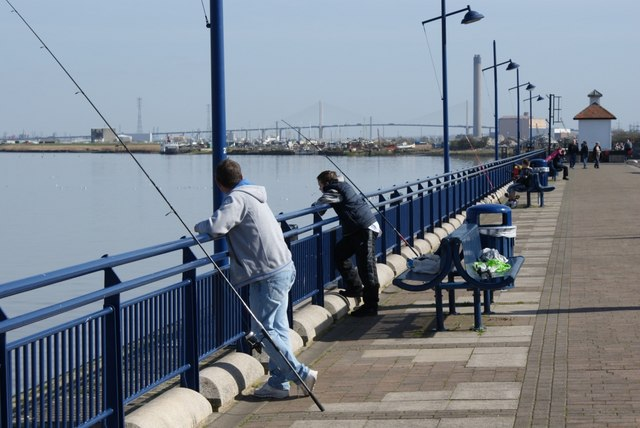 Fishing from Erith Deep Wharf