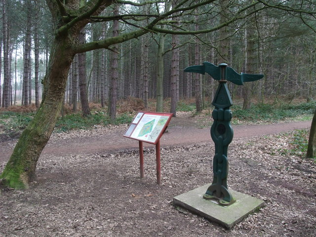 Sustrans cycle route 6 marker, Clumber Park