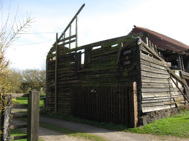 Collapsed end of Derelict  Farm Barn