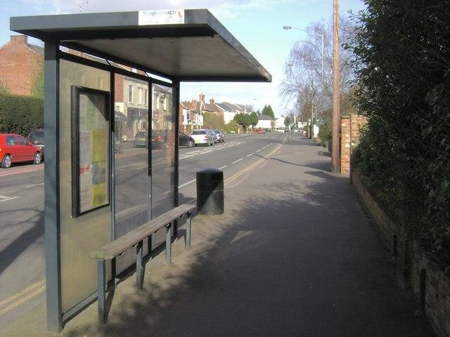 Bus stop, Emscote Road, Warwick
