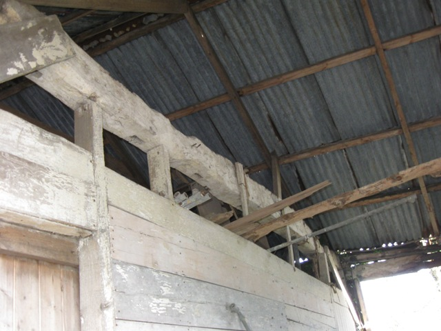 Roof Timbers in Derelict Farm Barn