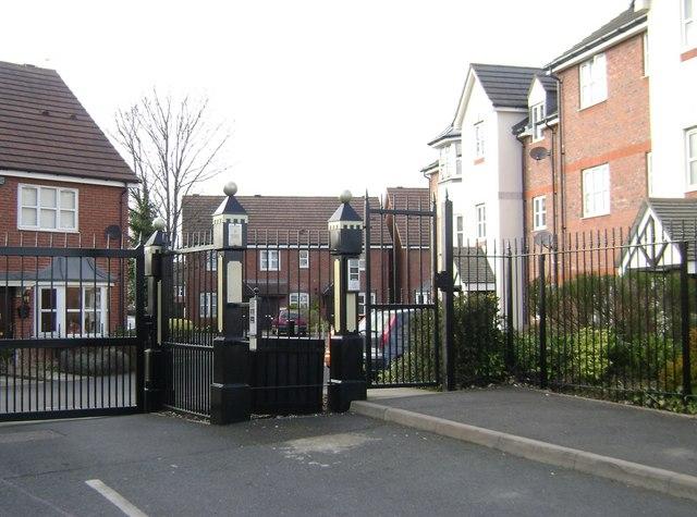 Gated housing estate, Birch End, Warwick