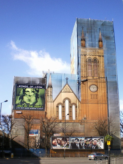 Under the wraps is St Paul's Church, Hammersmith