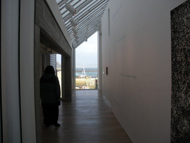 Inside the Pier Arts Centre, Stromness