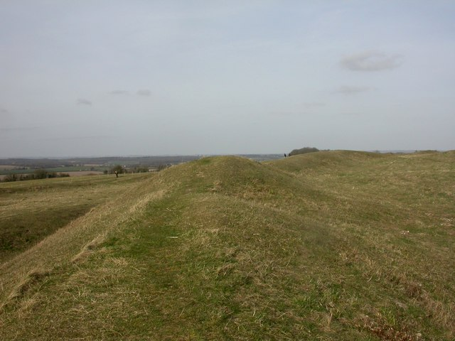 Badbury Rings, middle rampart