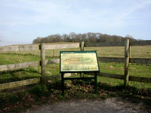 Badbury Rings, information board