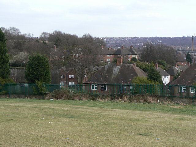 The back of Landcroft Crescent