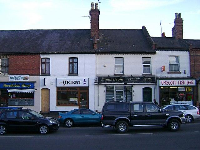 Shops, Emscote Road, Warwick