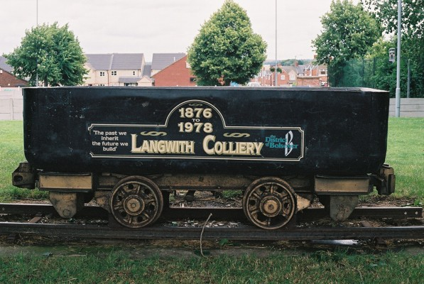 Memorial to the Langwith Colliery