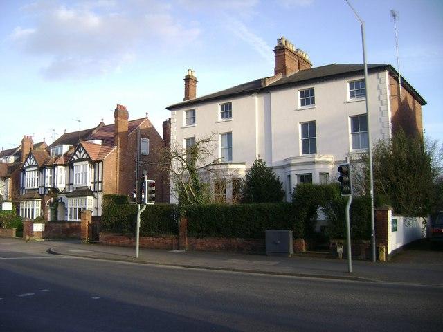 House types, Emscote Road, Warwick