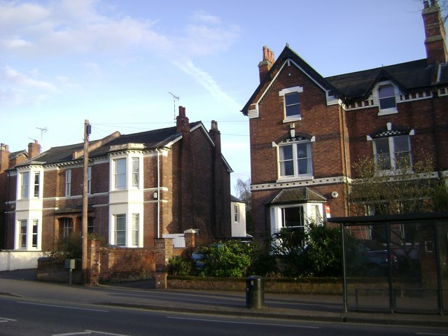 House types, Emscote Road, Warwick
