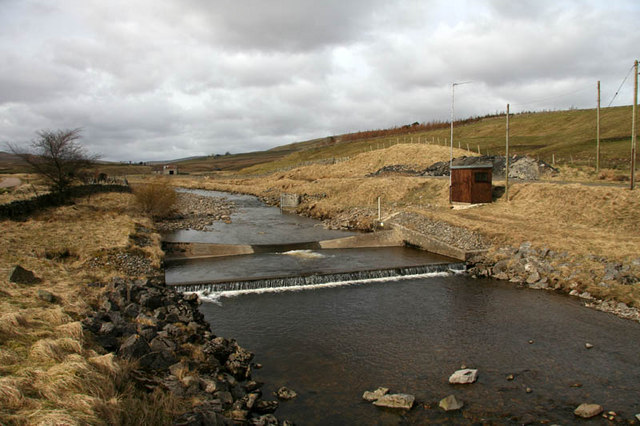 Water gauge on Harwood Beck