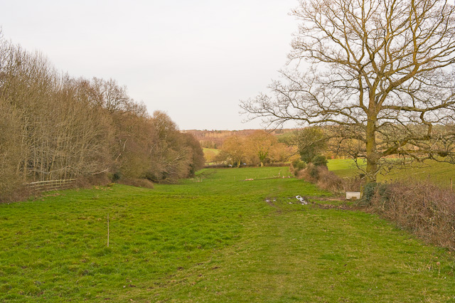 Footpath north of Parker's Farm, Rownhams