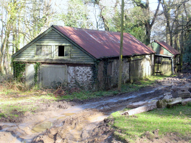 The sawmill on Pentillie Castle estate