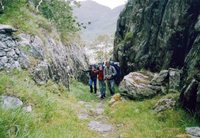 Track from Loch Hourn to Corran