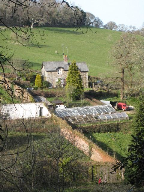 Pentillie Castle kitchen garden seen from the Lime Walk