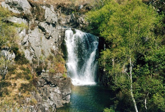 Waterfall on the Abhainn Bheag Knoydart