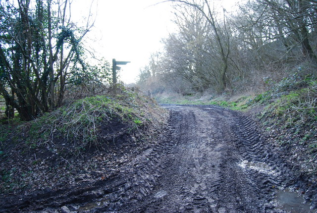 Footpath at the base of the Greensand Ridge