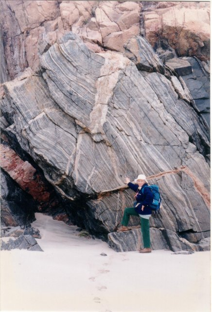 Gneiss at Uig Sands, Lewis