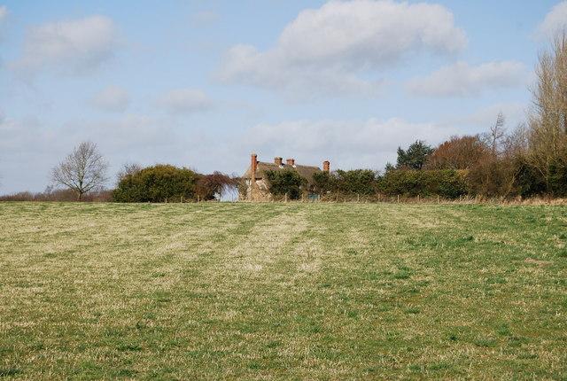 Looking across a field to Hartley Mauditt