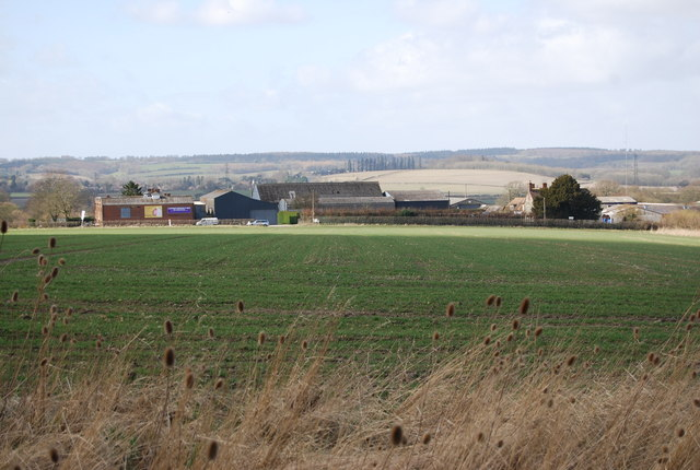 Looking towards Hartley Park Farm from a footpath