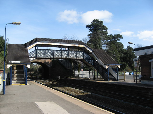 Footbridge, Hagley Railway Station, Worcestershire