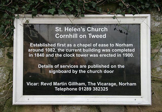 St Helen's Church board