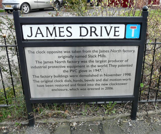 James North Clock Information
