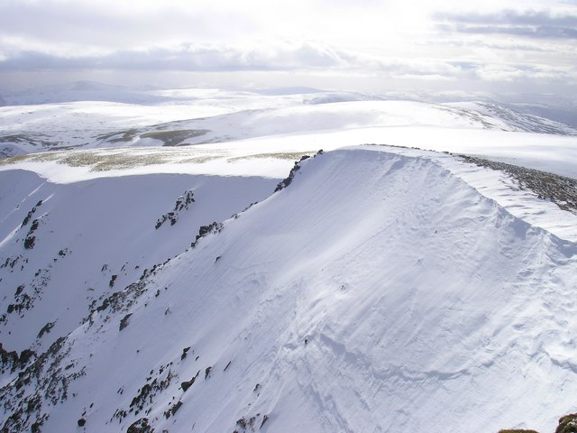 Looking to Carn Ban Mor from the summit of Sgor Gaoth