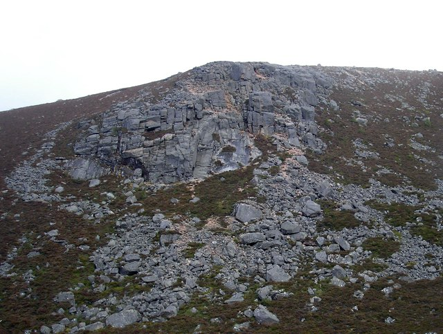 The Creagan Dubh Crags
