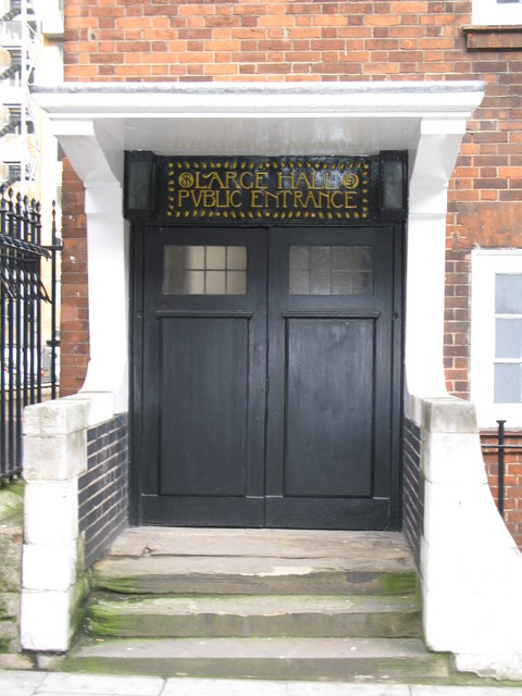 Doorway of the Mary Ward House, Tavistock Place, WC1