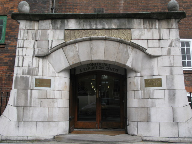 Main entrance of the Mary Ward House, Tavistock Place, WC1