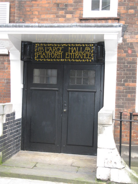 (Another) doorway of the Mary Ward House, Tavistock Place, WC1
