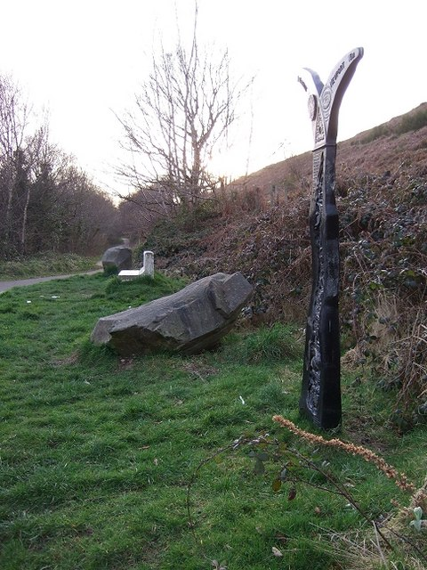 Bedwas to Machen Cycleway Marker & Rest Stop
