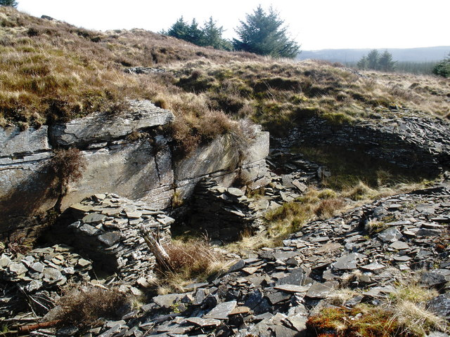 Old stone workings, above Glenboi