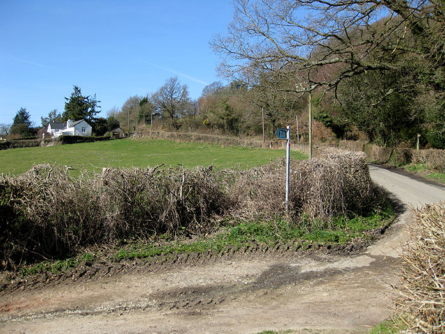 Bridleway meets metalled road