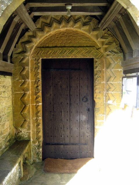 Norman doorway - St Margaret's Middle Chinnock