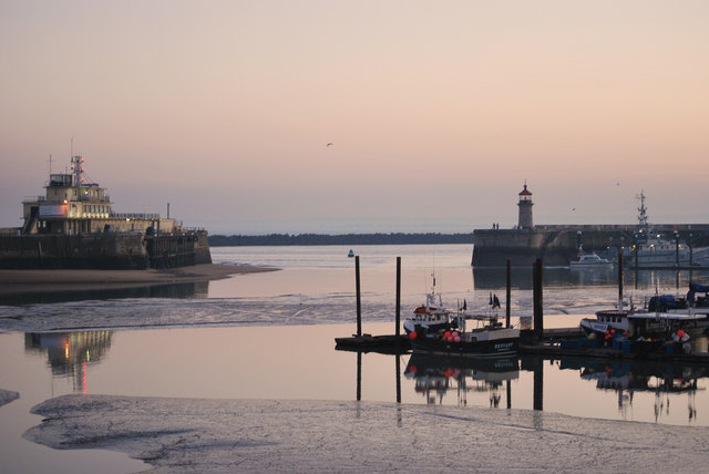 Outer harbour at sunset