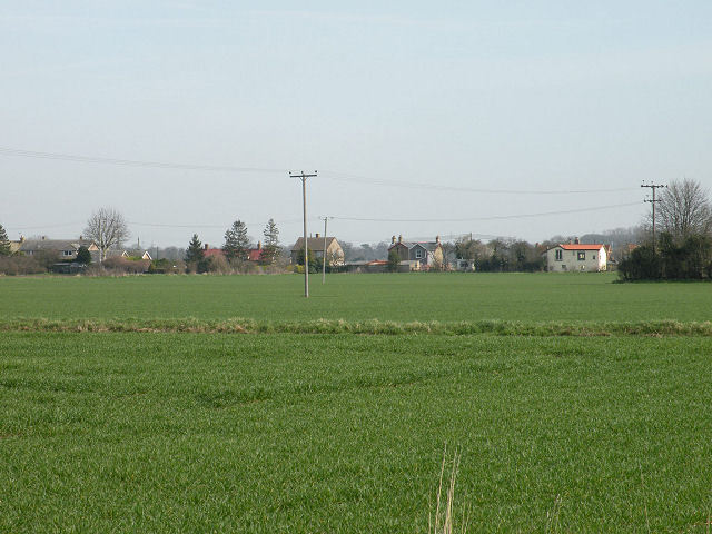 Fields and houses at Long Meadow