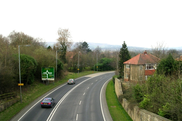 A660 - viewed from West Chevin Road
