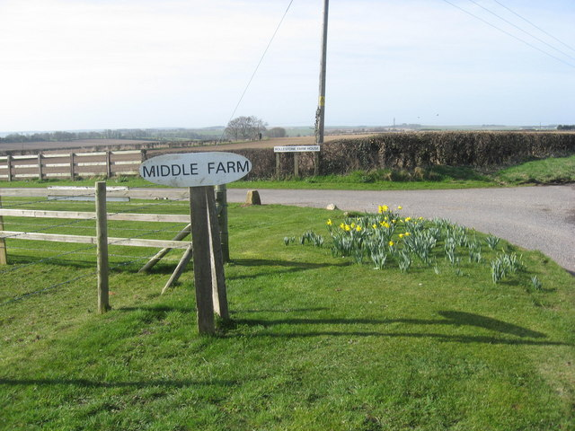 Farm signs on a well kept verge